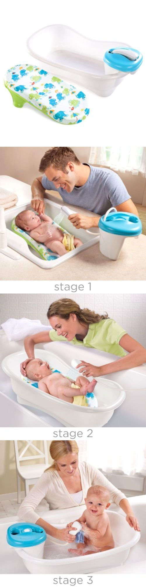 Bath Tubs 113814: Portable Newborn To Toddler Bath Center And Shower 4 Stages Easy Bathing Tub, New -> BUY IT NOW ONLY: $58.32 on eBay!