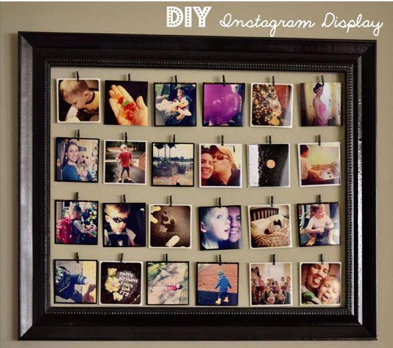 Serenity Now: DIY Instagram Photo Display Ideas