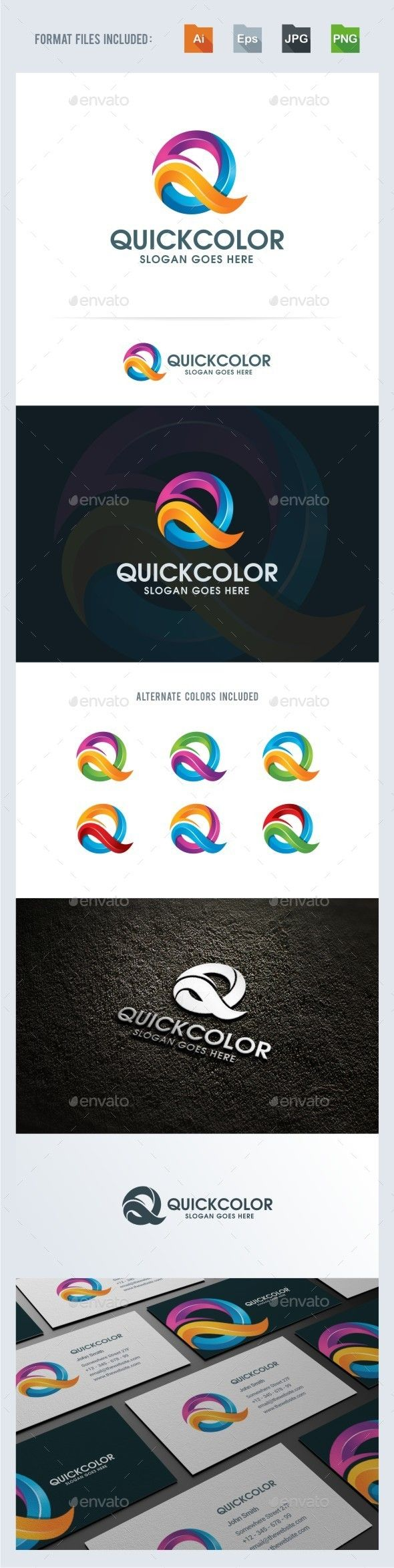 Logotype butterfly and letter b in different colour variants on a - Q Letter Logo Template