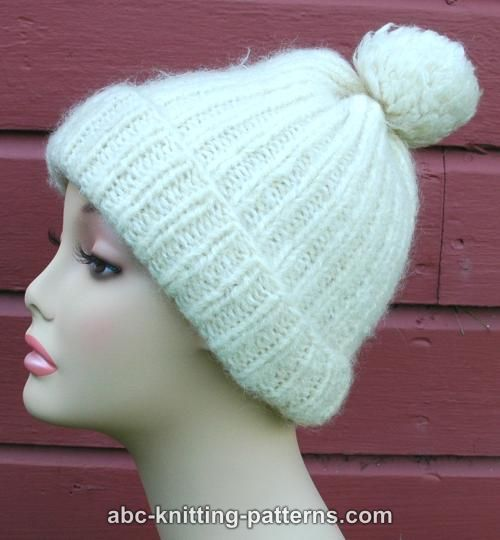ABC Knitting Patterns - Fisherman's Rib Hat