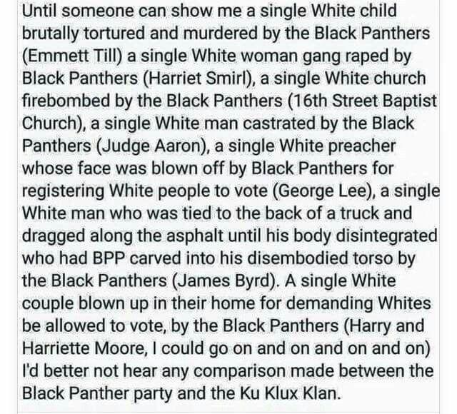 black panthers vs kkk essay