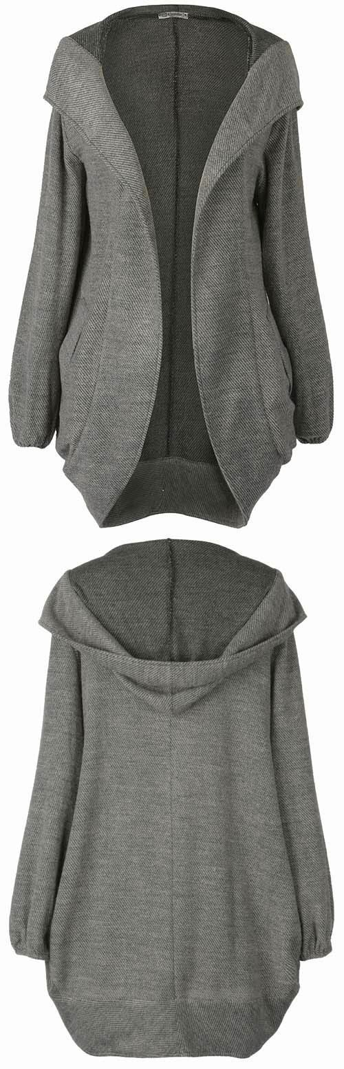 On Pre-Sale! Only 27.99! Start your day off right in Hooded coat. All those hooded design and open front and pocket at sides in perfect harmony.Share more wonderful items at Cupshe.com !