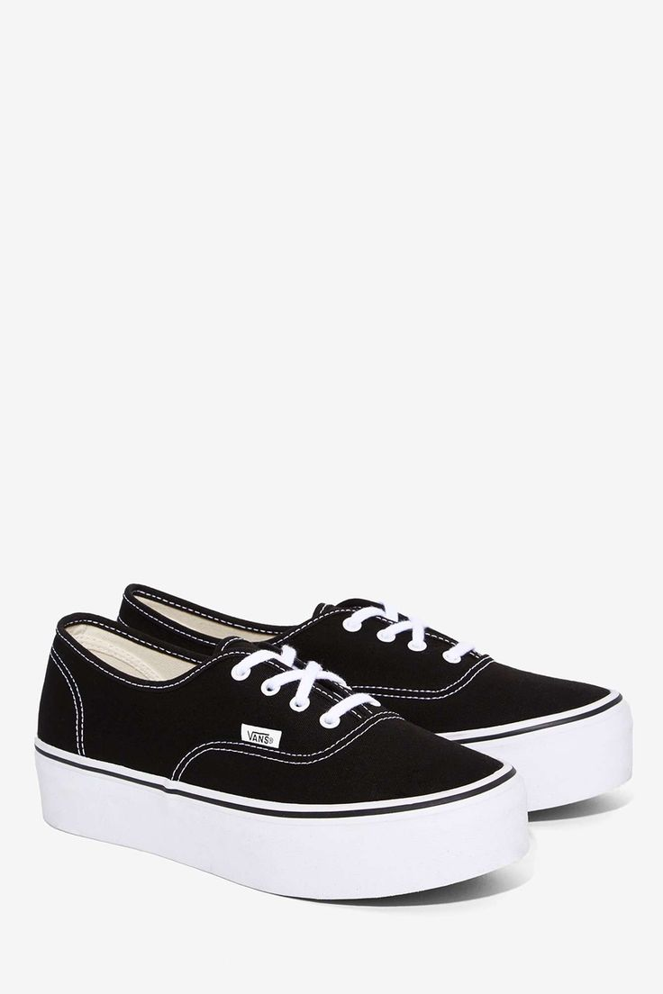 Vans Authentic Platform Sneaker - Black | Shop Shoes at Nasty Gal!