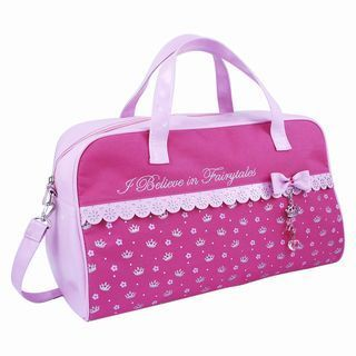 Pink Poppy Overnight Bag.  ECA LISTING BY Made In The UK, Bexhill On Sea, United Kingdom