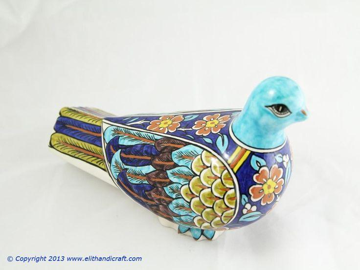 Elit Handicraft - SU020002 Sıtkı II Çini Güvercin