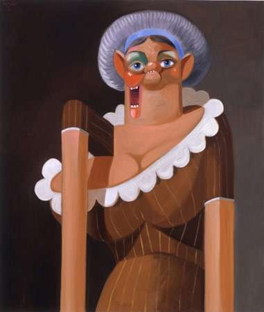 French Maid - Art collection by George Condo