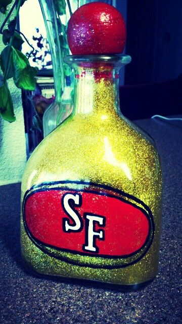 Sf Logo Glitter Patron Bottle Use Pledge Floor Cleaner To Make Glitter Stick Inside Bottle My