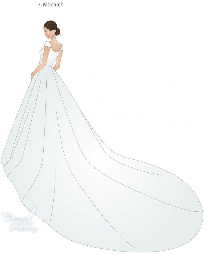 Monarch train modeled by WeddingLDS.com's signature bride