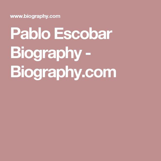 Pablo Escobar Biography - Biography.com