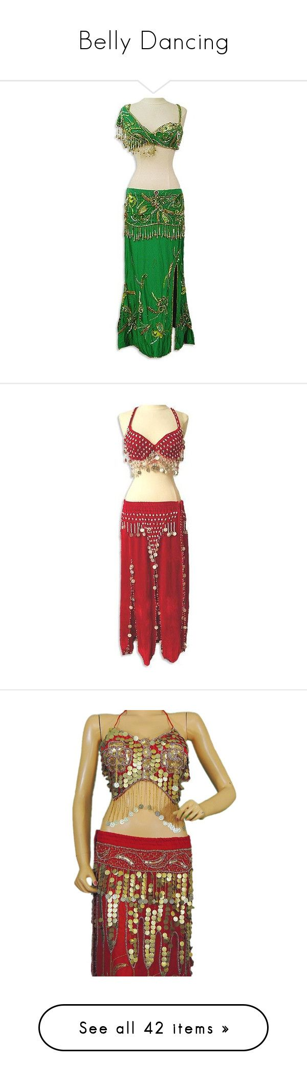 """Belly Dancing"" by redhead97caro ❤ liked on Polyvore featuring costumes, dresses, belly dancer costume, belly dancer halloween costume, green costumes, green halloween costumes, egyptian halloween costumes, red costumes, red halloween costumes and red belly dancer costume"