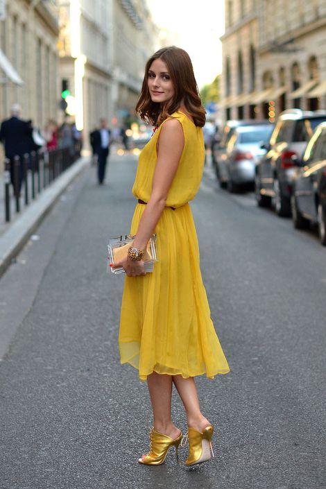 Lovely yellow or more like mustard dress From azita66.tumblr.com