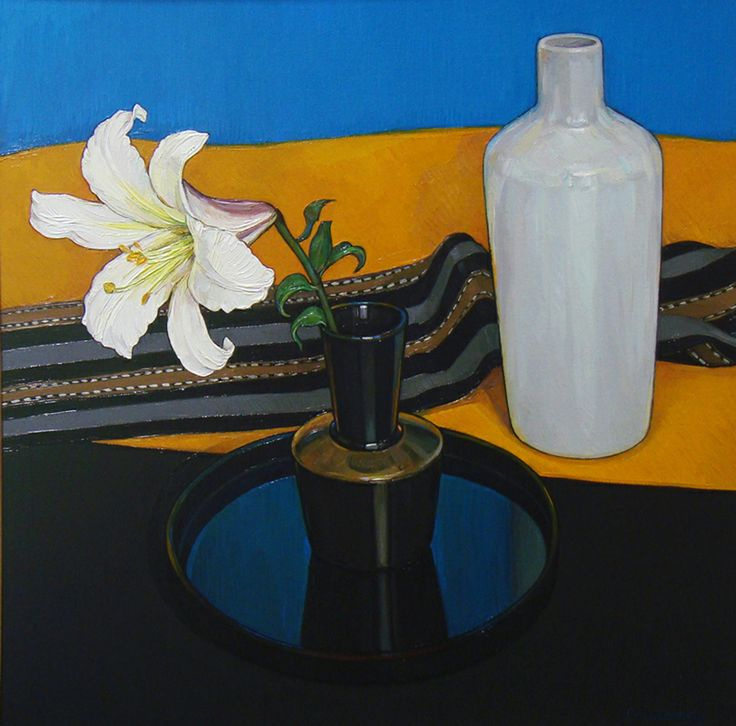 Criss Canning (b.1947) — White Lilly Reflections (810×800)