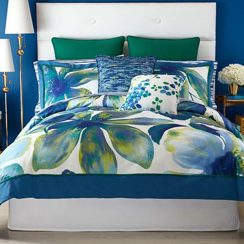 Christian Siriano Watercolor Bloom Bedding Collection King Set