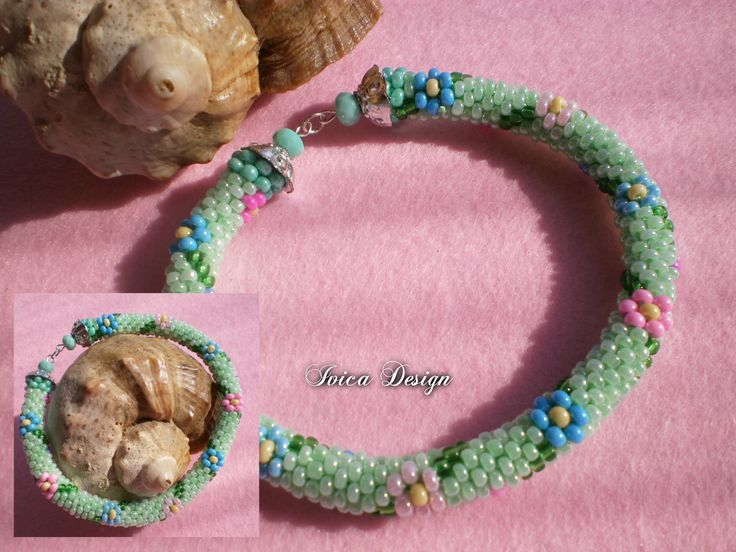 Spring Flowers bead chrochet bracelet <3 https://www.facebook.com/IvicaDesign/photos/a.427710167317624.1073741833.427659593989348/1189517074470259/?type=3&theater Pattern: Unknown Follow me on my Facebook page:  https://www.facebook.com/IvicaDesign/?ref=bookmarks  Buy my jewellry on: https://porteka.com/hu/ivica