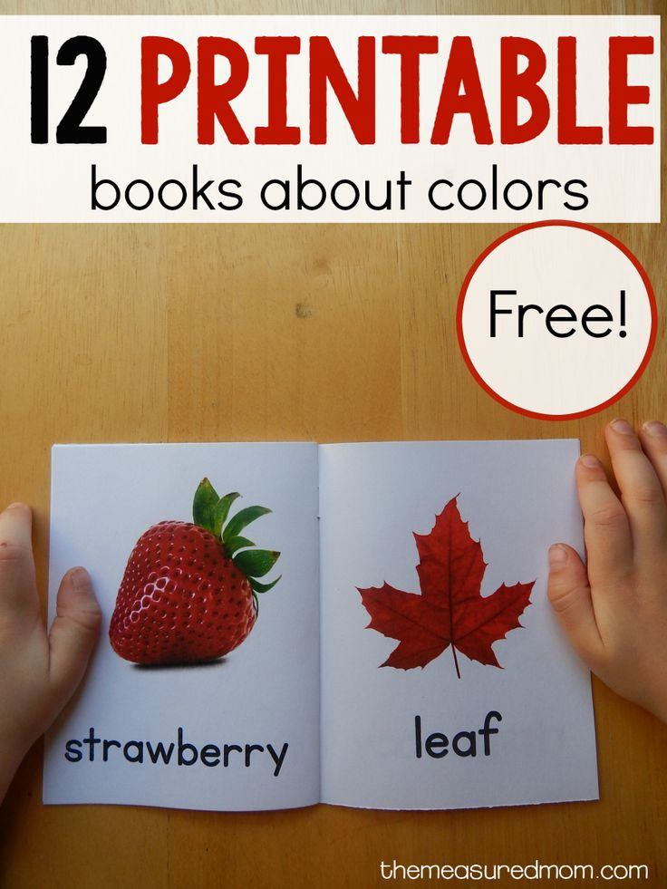 12 free color books - Free Toddler Books