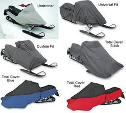 Polaris Indy Super Sport 1999 to 2006 snowmobiles. Choice of covers include the custom fit, universal fit, the total cover in red, blue and black and the underliner.