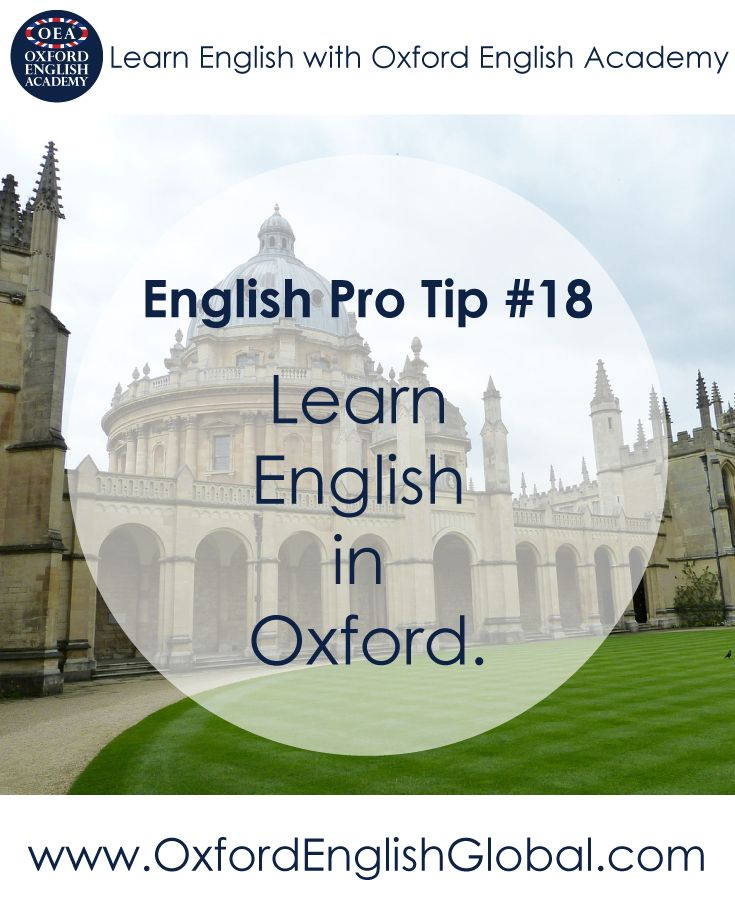 You will learn English quickly when you are in an English-speaking country. You will learn English in class, on the street and with your host family. Click VISIT for more English learning hints and tips from the Oxford English Academy blog..#oxfordenglishacademy #learnenglish #learnenglishoxford #englishcourse