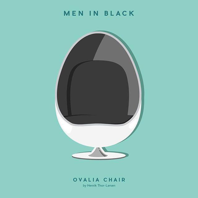 Men in Black - Ovalia Chair by Henrik Thor-Larsen