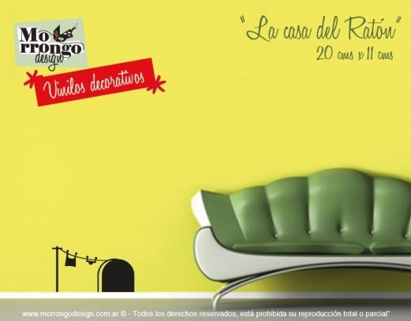 "Vinilos Decorativos | ""Home"" | ""La Casa del Ratón""    ® MORRONGO DESIGN 2010. All rights reserved"
