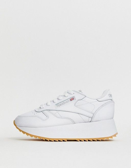 huge selection of ba82c edd27 Reebok Classic Leather double sneakers in 2019   Swoons   Sneakers, Classic  leather, Sneakers nike