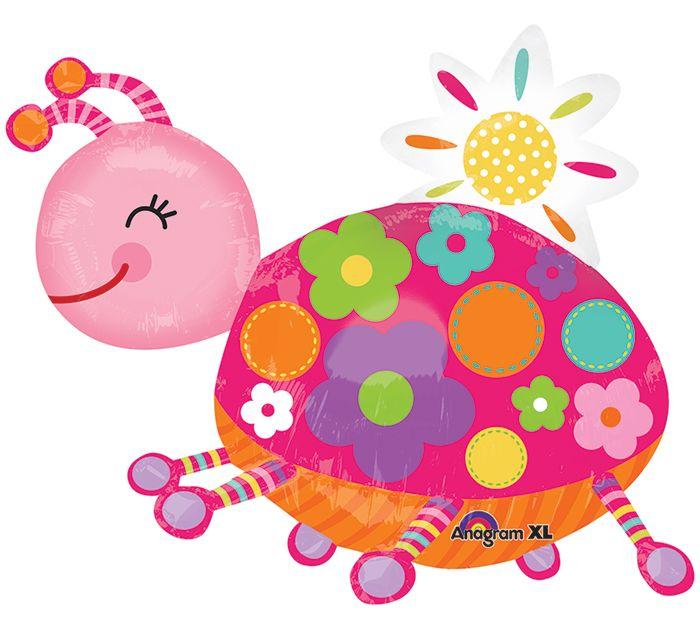 "This ladybug is full of personality!  Make someone smile with a 29"" shape balloon! #ladybug #burtonandburton #balloons"