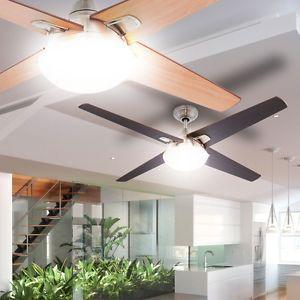 Ventilateur-de-plafond-luminaire-lumiere-telecommande-clair-cerise-noire-Globo