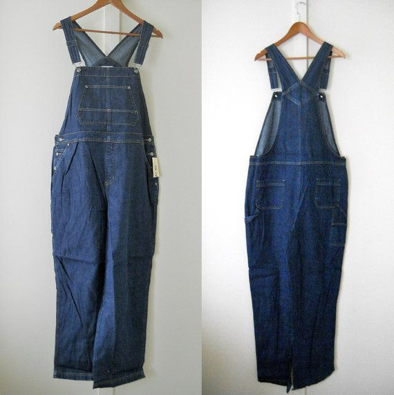 Plus Size Overalls XL Overalls Women Denim by TheVilleVintage, $54.99