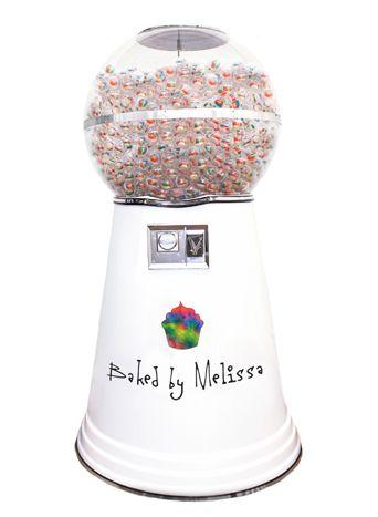 Giant Gumball Machine Dispenses Cupcakes for Events  @Bizbash @BakedbyMelissa #NewYork #MercedesBenzFashionWeek