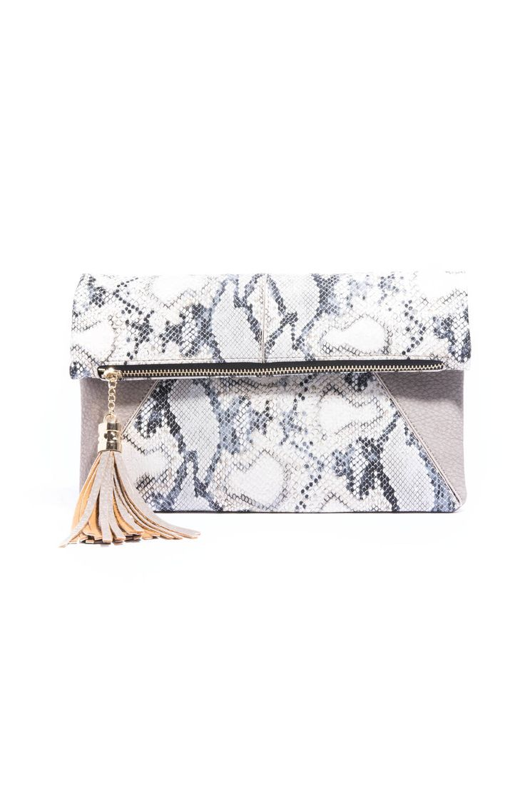 Urban Expression Snake Print Fold Over Crossbody Purse | South Moon Under
