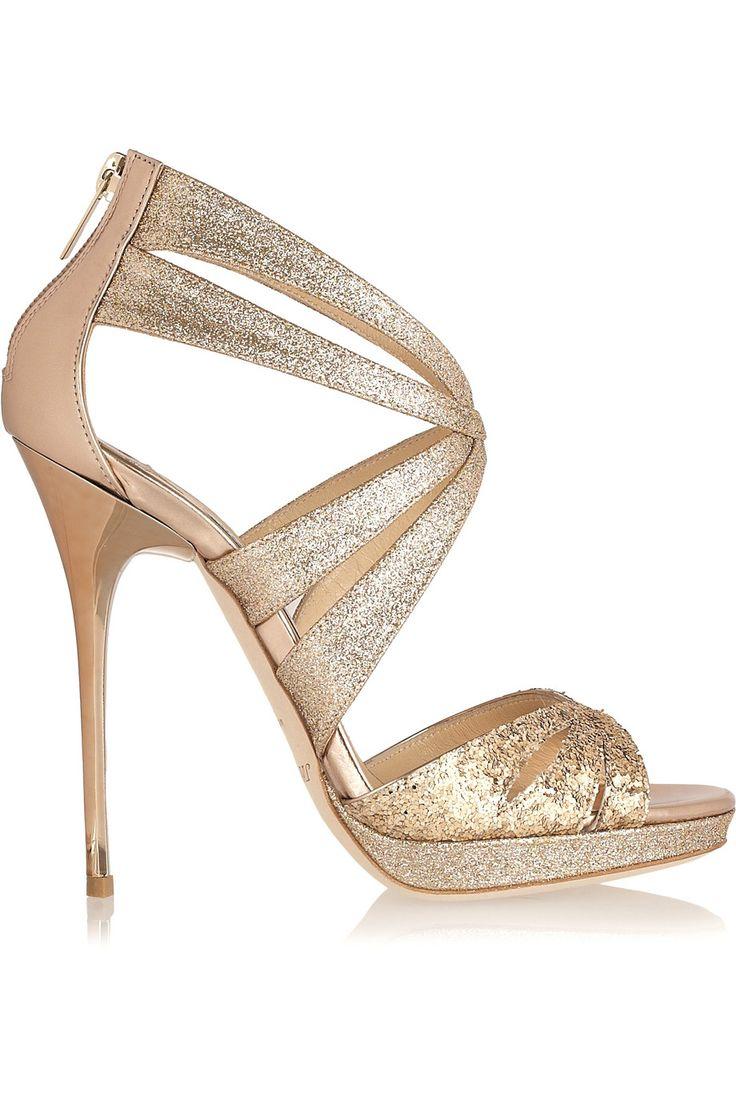 Jimmy Choo Garland Glitter Sandals