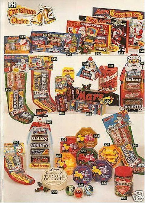 old Christmas selection boxes