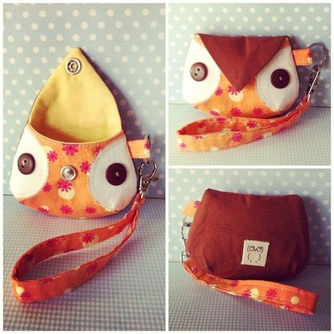 Owl coin purse. by MandyMade, via Flickr | DiyReal.com : Home Improvement DIY Blog