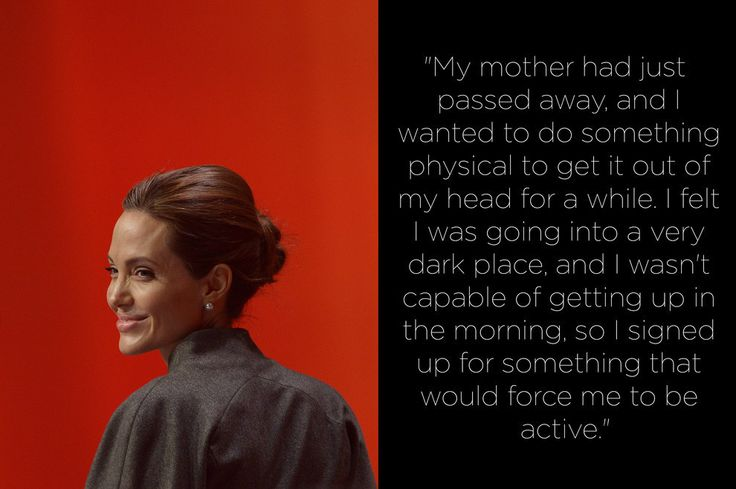 Angelina Jolie and many other super famous stars suffer from depression. Proves that money and fame doesn't help that.