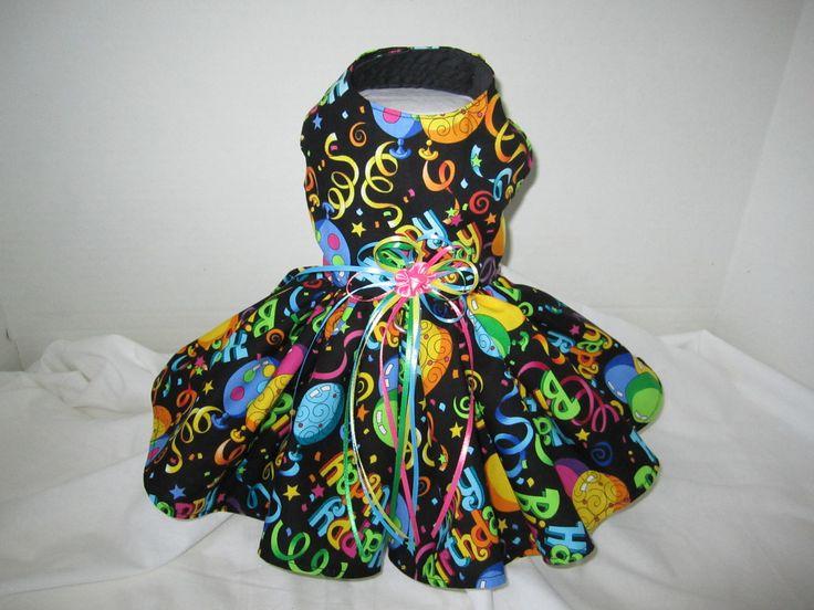 Happy Birthday Dog Dress S By Nina's Couture Close. $30.00, via Etsy.
