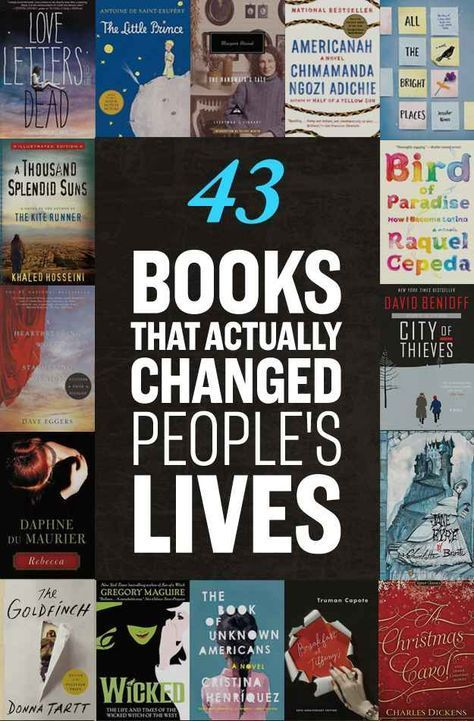 43 Life-Changing Books You Need To Read - I almost wrote this list off because of 'Perks of Being a Wallflower' but it has 'East of Eden' and 'A Thousand Splendid Suns,' so I'll accept it