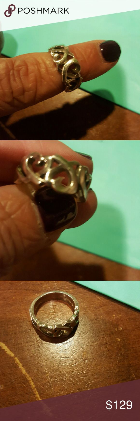 Tiffany sz 7 sterling silver Paloma Picasso ring Paloma Picasso  ring by Tiffany and Company. Excellent condition Loving Heart sz 7 Tiffany & Co. Jewelry Rings