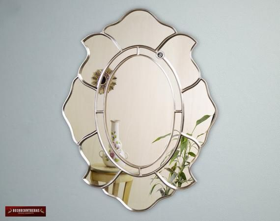 Silver Oval Accent Wall Mirror Perfection Decorative Oval