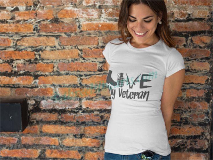 I love my Veteran T shirt Women's by SupportVeterans on Etsy https://www.etsy.com/listing/512000724/i-love-my-veteran-t-shirt-womens