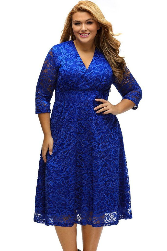 Style: Elegant, Chic, Sexy Occasion: Formal Evening, Wedding Party, Prom, Autumn,Spring Pattern: Solid Neckline: V-Neck Sleeve Length: Half Sleeve Dress Length: Mid-Calf Size Type: Plus Decoration: La