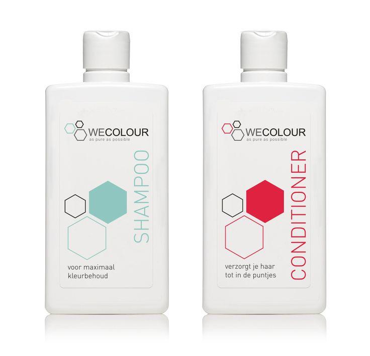 WECOLOUR heeft sinds kort ook verzorgingsproducten in de vorm van een shampoo en conditioner! Deze shampoo en conditioner houden geverfd haar langer mooi en bieden een optimale verzorging. Net als de haarverf bevatten de shampoo en conditioner van WECOLOUR geen parabenen, SLS, siliconen en sulfaat. De shampoo kost €14,50 en de conditioner €16,50. Nu samen voor €27,50. #haarverzorging #shampoo #conditioner #wecolour #zonderparabenen