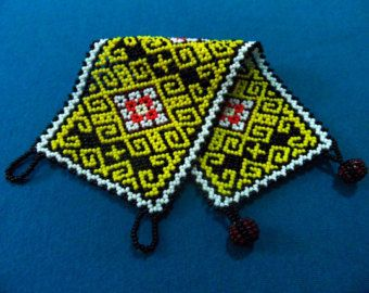 Huichol Bracelet on Etsy For those who like yellow!