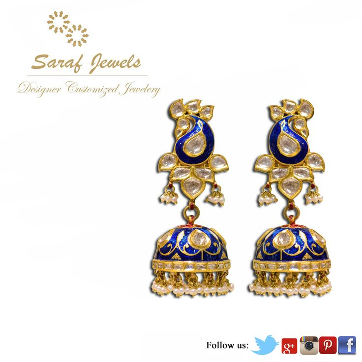 Kundan is a traditional form of Indian gemstone jewellery involving a gem set with gold foil between the stones and its mount. Mr. Kamal Saraf, owner of Saraf Jewels launches exclusive collection of Jewellery wherein enameling with vivid colours and designs. For queries; Call: 0141-4026333 or Whatsapp: +91 9829055333 #kundan #kundanjewellery #kundanmeena #finejewellery #jewellery #gold #earrings #kundanearrings #jaipur #India