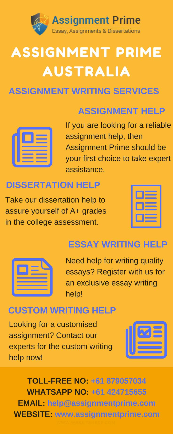 assignment writing services in australia An internship is typically done later in your college career, or sometimes after you graduate the object of the position is to give you real world experience that you can add to your resume as you seek a paid job in the future.
