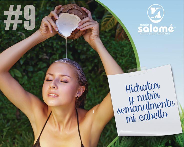 Hidratar y nutrir semanalmente mi cabello. http://www.mipropositocapilar.com/