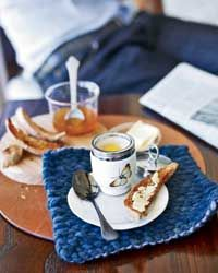 Baked Eggs en Cocotte with Basil Recipe on Food & Wine  -  These baked eggs topped with melted butter are Piero Incisa della Rocchetta's go-to breakfast. The dish was also a favorite of his grandfather Mario, the founder of Italy's world-famous Sassicaia winery in Tuscany