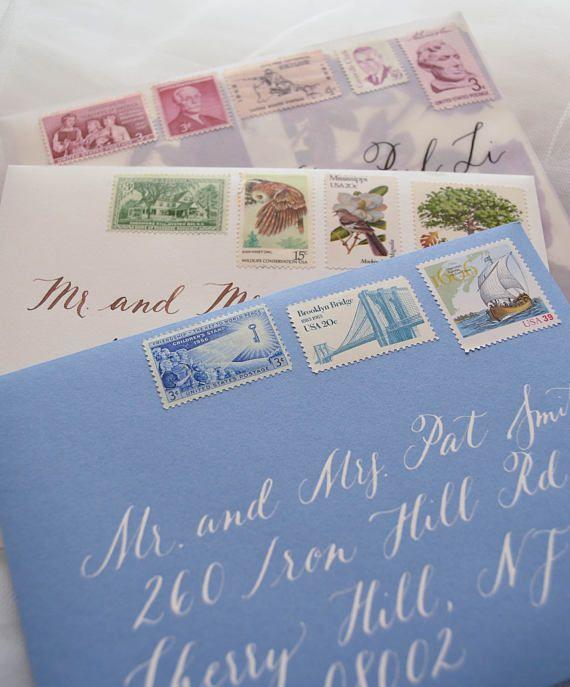 Vintage Postage For Wedding Invitations   Vintage Postage   Wedding Stamps    Vintage Stamps