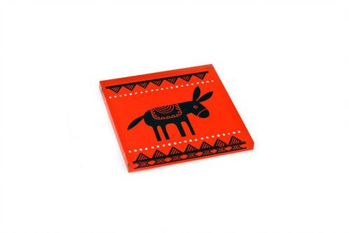Donkey | plexiglass coaster | screenprinted & lazer cutted | designed and made in Greece