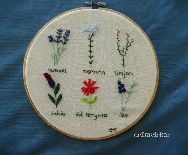Det här är mitt första broderi, det blev klart under våren. Jag ville brodera blommor så som de ser ut i en Flora ungefär, dessutom ville jag testa lite olika broderistygn jag lärt mig. Så här blev…