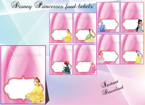 Disney prinsessen voedseletiketten Mini Mouse partij Disney