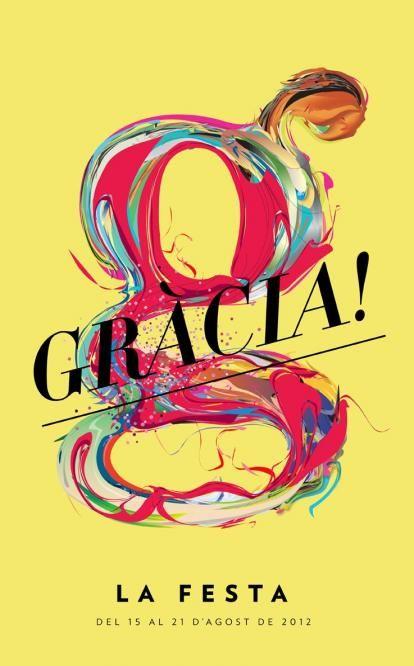 Fiesta de Gracia siempre con Grandes Posters, simple e impactante, no puedes dejar de mirarlo